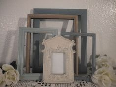 Beach Cottage Frame Set Seaside Destination Wedding Gallery Collection French Country Farmhouse Home Decor Rustic Shabby Chic Distressed. $49.99, via Etsy.
