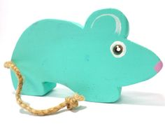 Free shipping mouse organic wooden toy by Wheelsandpaintings, $22.00