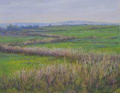 """Farmer's Field #3 by Kathy McDonnell Pastel ~ 16"""" x 20"""""""