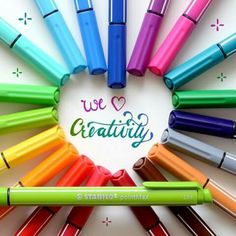 It's lettering time with STABILO PointMAX! Click love if you also like beautiful writing! Show us your lettering results! College Supplies, Art Supplies, Writing, Creative, Pens, Colorful, Beautiful, Spring, Being A Writer
