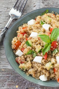 A light balsamic dressing is perfect on this Italian Quinoa Salad