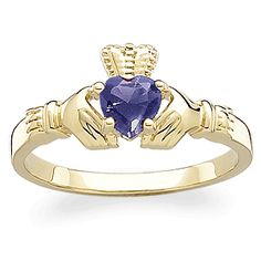"""""""Sterling Silver December Birthstone Claddagh Ring"""" Your birthstone can be incorporated into traditional jewelry and still be kept tasteful! For those with the luck of the ! Irish Wedding Rings, Irish Rings, Irish Jewelry, Claddagh Rings, Pretty Rings, October Birth Stone, Personalized Jewelry, Making Ideas, Birthstones"""