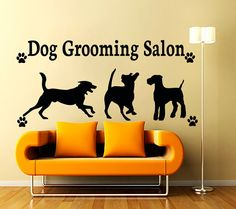 Dog Wall Decals Grooming Salon Decal Vinyl Sticker Pet Shop Bedroom Hall Decor Interior Design Art Mural Dear Buyers, Welcome to our shop! The Decal