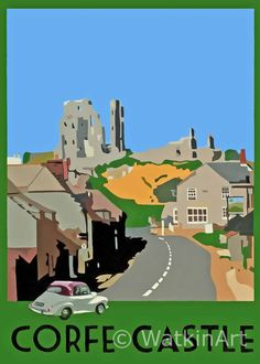 Corfe Castle (Morris Minor Convertible)