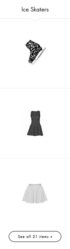 """""""Ice Skaters"""" by dancing-inthe-street ❤ liked on Polyvore featuring shoes, boots, ankle booties, costume, silver boots, silver booties, dresses, dance, dancer and lane"""