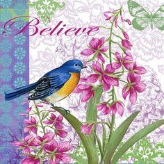 Birds and Flowers-Believe By Elena Vladykina