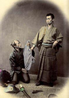 Samurai with a pistol, ca. 1867 by Felice Beato