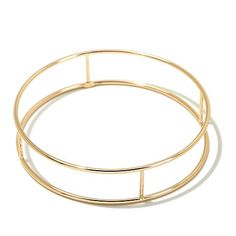 Shop Sevilla Gold™ 14K Negative Space Bar Bangle Bracelet 8002204, read customer reviews and more at HSN.com.