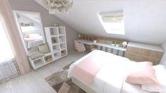 Children's rooms on Behance Baby Bedroom, Girls Bedroom, Attic Bedrooms, Loft Room, Girl Bedroom Designs, New Room, Girl Room, Living Room Decor, Diy Home Decor