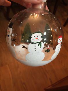 My snowman ornament! Diy!