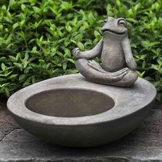 You'll love the Kosei Birdbath at Wayfair - Great Deals on all Outdoor products with Free Shipping on most stuff, even the big stuff. Concrete Sculpture, Garden Sculpture, Cement Art, Pasta Piedra, Garden Planters, Bird Bath Garden, Clay Classes, Tabletop Fountain, Garden Fountains Outdoor