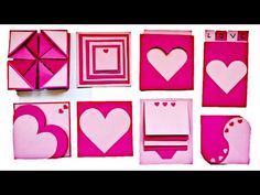 This is a tutorial video on how to make cards for scrapbook Cards Heart Pop Up Card Maze Card Waterfall Card Pocket Card Napkin fold card Scrapbook Base Tuto. How To Make Scrapbook, Diy Scrapbook, Scrapbook Pages, Diy Birthday Scrapbook, Anniversary Scrapbook, Diy Crafts For Girls, Easy Diy Crafts, Heart Pop Up Card, Birthday Explosion Box