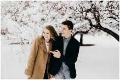 Olivia and Brandon, Snowy Couple's Session in Provo, Utah | Nicole Aston Photo Winter Engagement, Snowy Day, Utah, Couple Photos, Couples, Couple Shots, Couple Photography, Couple, Couple Pictures
