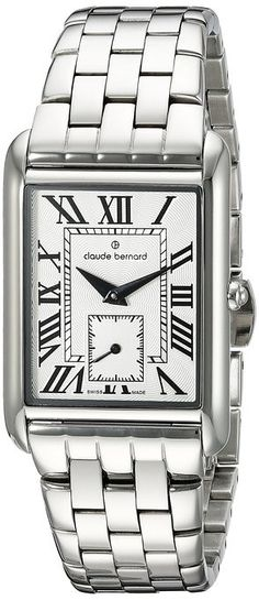 Swiss Made Claude Bernard 23097 3M BR Women's Watch Rectangular Silver Stainless Steel Case. 100% Authentic. FREE US SHIPPING. MAKE AN OFFER!
