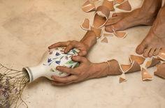 Arms break, vases don't by Erik Johansson