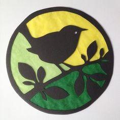 Transparant vogel in boom