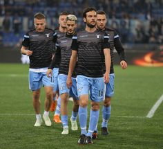 Marco Parolo of SS Lazio players in action during the warm up before the UEFA Europa League quarter final leg one match between SS Lazio and RB Salzburg at Stadio Olimpico on April 5, 2018 in Rome, Italy. - 24 of 120