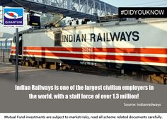 #DidYouKnow : #Indian Railways is one of the largest civilian employers in the world, with a staff force of over 1.3 #million!