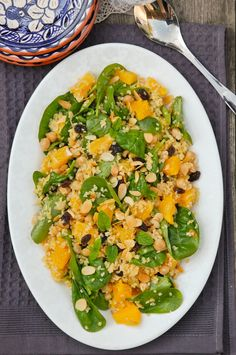 Couscoussalaatti appelsiinilla ja kikherneillä / Couscous salad with oranges and chickpeas 50th Birthday, Birthday Ideas, Orange Salad, Couscous Salad, Chickpeas, Risotto, Food And Drink, Ethnic Recipes, 50th Anniversary