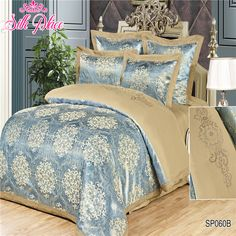 """>> Click to Buy << """"Silk Place"""" Fashion Quality Satin Jacquard Bedding Set Europe Size 4pcs Duvet Cover Bed Sheet Pillowcases Home Textile #Affiliate"""