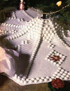 free crochet tree skirt pattern   Crochet PATTERN ONLY Snowdrift Christmas Tree Skirt. $9.95, via Etsy.