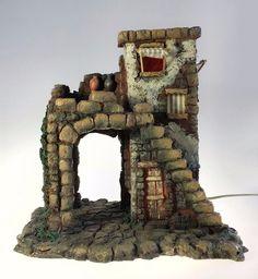 "Fontanini The Inn 5"" Nativity Lighted Building 50150 Depose Italy Roman 1996 MIB #Fontanini"