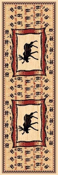 """Moose"" Rustic Northwoods Area Rug (5 Sizes Available)"
