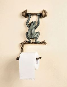 Do you position the toilet tissue over or under the roll? No matter, here are the various types of toilet paper holders you could choose for the bathroom. A roll of toilet paper . Read Best Various Sorts Of Toilet Tissue Holders Washrooms Ideas Frog Toilet Paper Holder, Unique Toilet Paper Holder, Funny Frogs, Cute Frogs, Tropical Toilets, Frog Bathroom, Bathroom Ideas, Nature Bathroom, Bathroom Stuff