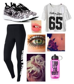 """""""Untitled #1499"""" by beau-4-ever ❤ liked on Polyvore featuring NIKE, Charlotte Tilbury and Victoria's Secret PINK"""