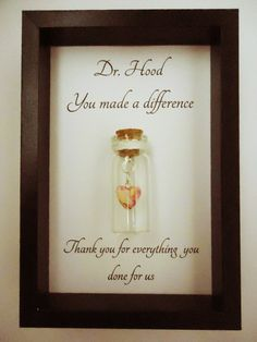 Thank you gift, doctor, nurse, teacher. You made a difference. Can be personalised with your own message. on Etsy. Thank you gift ideas from undertheblossomtree.com
