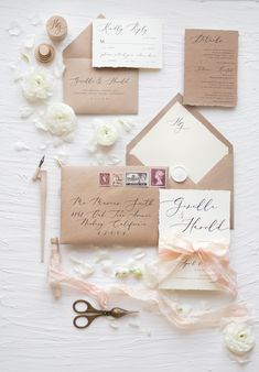 WEDDING INVITATIONS calligraphy 04/CGN/z