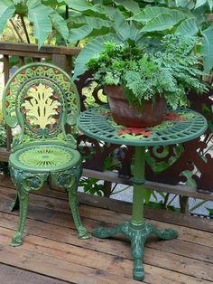 Cast Iron Garden Furniture, Painted Garden Furniture, Pallet Garden Furniture, Balcony Furniture, Modern Furniture, Outdoor Furniture Sets, Furniture Plans, Furniture Makeover, Diy Furniture