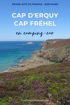 Visitez le Grand Site de France Cap d'Erquy - Cap Fréhel en camping-car ! Aires et campings à proximité du site pour faciliter la visite. Un site de toute beauté à intégrer dans un itinéraire en Bretagne. #campingcar #campingcarlife #bretagne #parenthesenomade