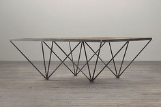 Metal Base Coffee Table