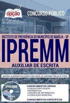 Apostila Concurso Ipremm 2019 Auxiliar De Escrita Pdf E Impressa