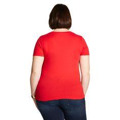 Women's Plus Size V-Neck T-Shirt - Ava & Viv