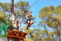 Acrobosc Ibiza is a new activity park for all ages (3+) featuring acrobatic and balance activities such as tight-rope walking, zip line ridi...