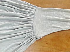 DIY Ruched Wrap Skirt | Trash To Couture