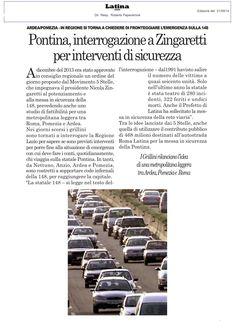 #Zingarettirispondi #Pontina : la nostra interrogazione per la messa in sicurezza http://atticrl.regione.lazio.it/allegati/interrogazioniOrali/TESTI_INTERROGAZIONI/79.pdf
