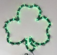 2d5fbb031199 Lighted Shamrock Sculpture 35 Lights St. Patrick's Day Irish Home Decor  Light #Unbranded Green