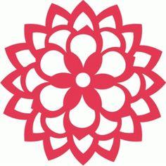 Silhouette Design Store - View Design #58941: floral filigree