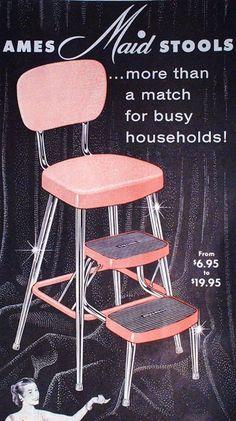 : ~ Vintage steel and enamel wares… in pink!: ~ Vintage Stahl- und Emailwaren … in Pink! Vintage Advertisements, Vintage Ads, Vintage Pink, Vintage Items, Vintage Stuff, Vintage Sweets, Retro Ads, 50s Kitchen, Kitchen Stools