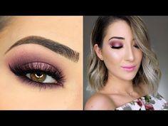Sparkly Pink Halo Smokey Eye Makeup Tutorial - YouTube