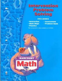 Harcourt Math Intervention Problem Solving, Grade 3 (Math 04)  SN#GM54