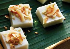 Haupia Coconut Pudding- vegan, gluten-free, lower-fat