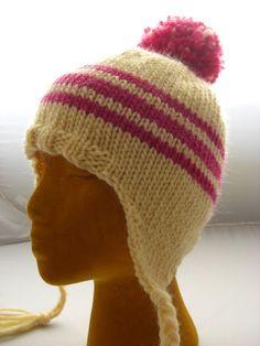 Ear flap hat tutorial – KNITTING – Knitting patterns, knitting designs, knitting for beginners. Knitting For Kids, Knitting For Beginners, Knitting Projects, Knitting Tutorials, Knitting Patterns Free, Free Knitting, Baby Knitting, Hat Patterns, Free Pattern