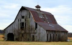 Showing My Age by Skipper Cowan  (A very old Barn near the town of Bloomfield Missouri)