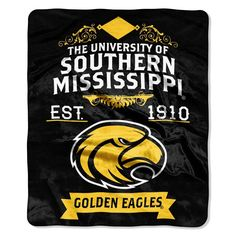 Uphold the tradition!  University of Southern Mississippi Label Blanket Throw