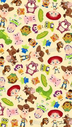 [人気キャラ大盛り]トイストーリー6 iPhone壁紙 Wallpaper Backgrounds iPhone6/6S and Plus  Toy Story Pattern iPhone Wallpaper