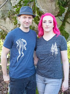 Does your guy love the octopus? This tentacles graphic tee is a perfect gift for him. Give him the power of the Kraken with this fun nautical mens t shirt.  • Illustrated, and hand printed in Seattle with eco-friendly, water-based inks. Nature inspired shirts for the wild at heart.